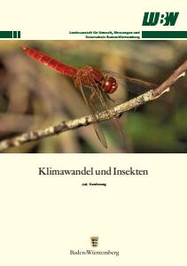 Bild der Titelseite der Publikation: Klimawandel und Insekten