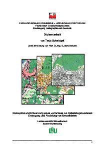 Bild der Titelseite der Publikation: Konzeption und Entwicklung eines Verfahrens zur maßstabsgebundenen Erzeugung und Abbildung von Umweltdaten