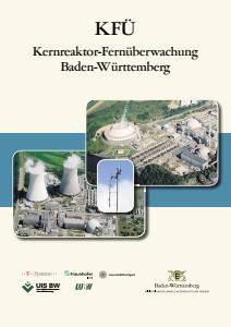 Bild der Titelseite der Publikation: KFÜ Kernreaktor-Fernüberwachung Baden-Württemberg