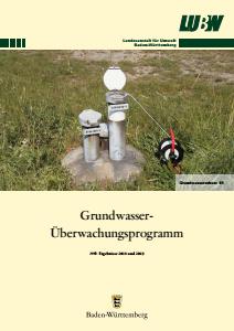Bild der Titelseite der Publikation: Grundwasserüberwachungsprogramm. Ergebnisse 2018 und 2019