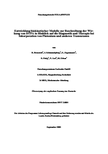 Bild der Titelseite der Publikation: Entwicklung biokinetischer Modelle zur Beschreibung der Wirkung von DTPA in Hinblick auf die Diagnostik und Therapie bei Inkorporation von Plutonium, und anderen Transuranen