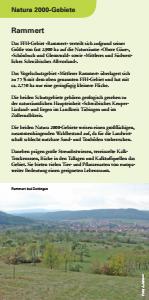 Bild der Titelseite der Publikation: Natura 2000 gemeinsam umsetzen - Rammert