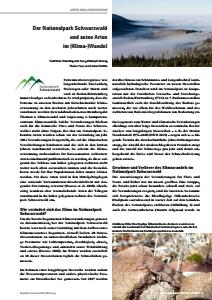 Bild der Titelseite der Publikation: Der Nationalpark Schwarzwald und seine Arten im (Klima-)Wandel