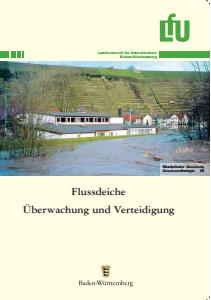 Bild der Titelseite der Publikation: Flussdeiche