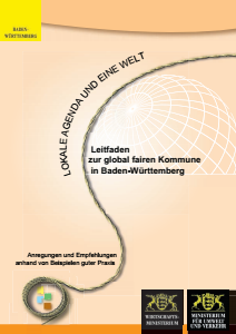 Bild der Titelseite der Publikation: Leitfaden zur global fairen Kommune in Baden-Württemberg