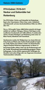 Bild der Titelseite der Publikation: Natura 2000 gemeinsam umsetzen - Neckar und Seitentäler bei Rottenburg