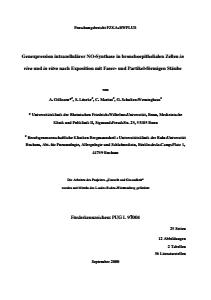 Bild der Titelseite der Publikation: Regulative Mechanismen der Genexpression intrazellulärer NO-Synthase in bronchoepithelialen Zellen in vivo und in vitro nach Exposition mit faser- und partikelförmigen Stäuben