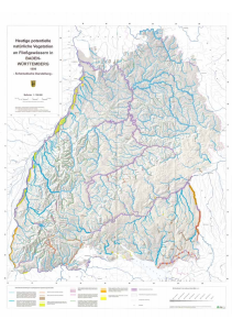 Bild der Titelseite der Publikation: Die heutige potentielle natürliche Vegetation an Fließgewässern - Übersichtskarte