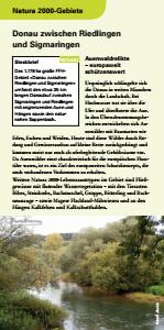Bild der Titelseite der Publikation: Natura 2000 gemeinsam umsetzen - Donau zwischen Riedlingen und Sigmaringen