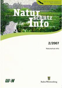 Bild der Titelseite der Publikation: Naturschutz-Info 2007 Heft 2