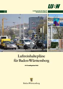 Bild der Titelseite der Publikation: Luftreinhaltepläne für Baden-Württemberg