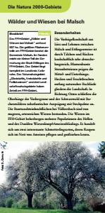 Bild der Titelseite der Publikation: Natura 2000 gemeinsam umsetzen - Wälder und Wiesen bei Malsch