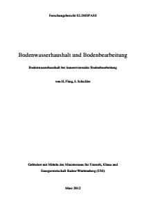 Bild der Titelseite der Publikation: Bodenwasserhaushalt und Bodenbearbeitung