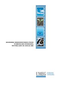 Bild der Titelseite der Publikation: Besondere Immissionsverhältnisse während der Inversionswetterlagen im Januar 2002