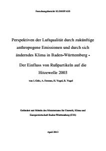 Bild der Titelseite der Publikation: Perspektiven der Luftqualität