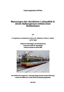 Bild der Titelseite der Publikation: Messungen der räumlichen Luftqualität in einem Ballungsraum mittels einer Straßenbahn