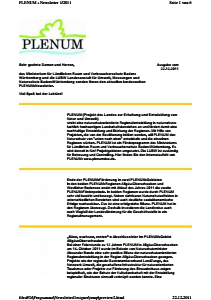 Bild der Titelseite der Publikation: Newsletter 2011