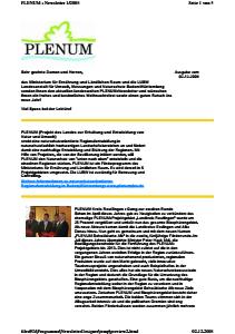 Bild der Titelseite der Publikation: Newsletter 1 / 2008