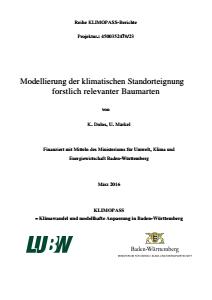 Bild der Titelseite der Publikation: Modellierung der klimatischen Standorteignung forstlich relevanter Baumarten
