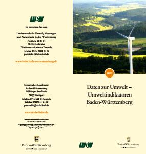 Bild der Titelseite der Publikation: Daten zur Umwelt - Umweltindikatoren Baden-Württemberg 2013