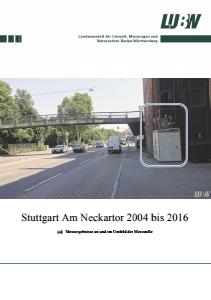 Bild der Titelseite der Publikation: Stuttgart Am Neckartor 2004 bis 2016