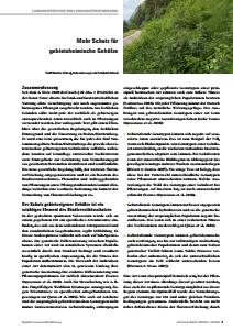 Bild der Titelseite der Publikation: Mehr Schutz für gebietsheimische Gehölze