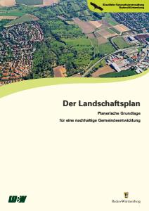 Bild der Titelseite der Publikation: Der Landschaftsplan