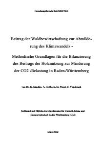 Bild der Titelseite der Publikation: Beitrag der Waldbewirtschaftung zur Abmilderung des Klimawandels