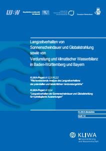 Bild der Titelseite der Publikation: Langzeitverhalten von Sonnenscheindauer und Globalstrahlung