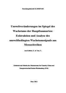 Bild der Titelseite der Publikation: Umweltveränderungen im Spiegel des Wachstums der Hauptbaumarten