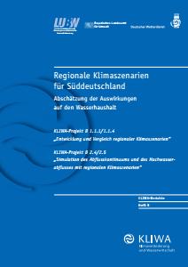 Bild der Titelseite der Publikation: Regionale Klimaszenarien für Süddeutschland