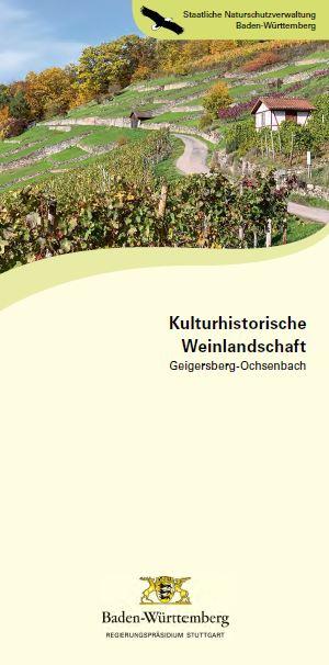 Bild der Titelseite der Publikation: Kulturhistorische Weinlandschaft