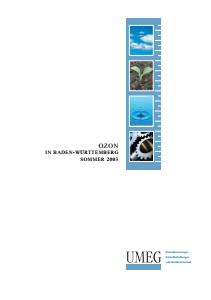 Bild der Titelseite der Publikation: Ozon in Baden-Württemberg. Sommer 2003