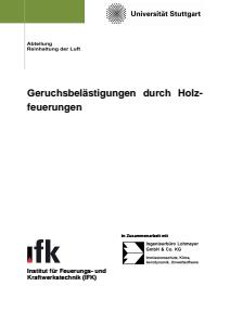 Bild der Titelseite der Publikation: Geruchsbelästigungen durch Holzfeuerungen