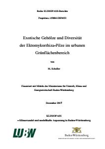 Bild der Titelseite der Publikation: Exotische Gehölze und Diversität der Ektomykorrhiza-Pilze im urbanen Grünflächenbereich