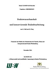 Bild der Titelseite der Publikation: Bodenwasserhaushalt und konservierende Bodenbearbeitung (Teil 2)