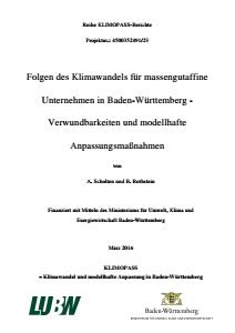 Bild der Titelseite der Publikation: Folgen des Klimawandels für massengutaffine Unternehmen in Baden-Württemberg - Verwundbarkeiten und modellhafte Anpassungsmaßnahmen