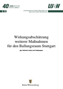 Bild der Titelseite der Publikation: Wirkungsabschätzung weiterer Maßnahmen für den Ballungsraum Stuttgart