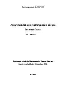Bild der Titelseite der Publikation: Auswirkungen des Klimawandels auf die Insektenfauna