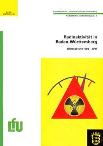 Bild der Titelseite der Publikation: Radioaktivität in Baden-Württemberg. Jahresbericht 1998-2001
