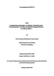 Bild der Titelseite der Publikation: Langzeituntersuchungen von Boden, Vegetation und Wasserhaushalt von Deponierekultivierungsschichten (Leonberg 2005+)