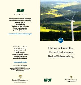 Bild der Titelseite der Publikation: Daten zur Umwelt - Umweltindikatoren Baden-Württemberg 2011