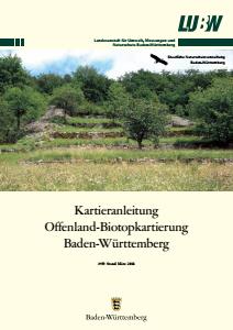 Bild der Titelseite der Publikation: Kartieranleitung Offenland-Biotopkartierung Baden-Württemberg