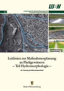 Bild der Titelseite der Publikation: Leitlinien zur Maßnahmenplanung an Fließgewässern