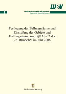 Bild der Titelseite der Publikation: Festlegung der Ballungsräume und Einstufung der Gebiete