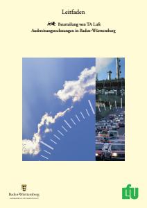 Bild der Titelseite der Publikation: Leitfaden zur Beurteilung von TA Luft Ausbreitungsrechnungen in Baden-Württemberg