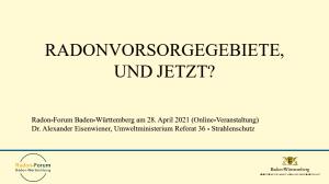 Bild der Titelseite der Publikation: Radonvorsorgegebiete, und jetzt?