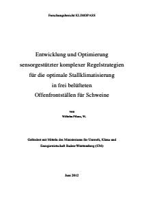 Bild der Titelseite der Publikation: Regelstrategien für Stallklimatisierung