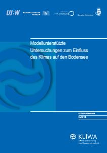 Bild der Titelseite der Publikation: Modellunterstützte Untersuchungen zum Einfluss des Klimas auf den Bodensee