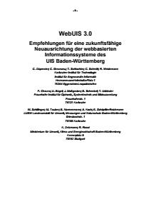 Bild der Titelseite der Publikation: WebUIS 3.0 - Empfehlungen für eine zukunftsfähige Neuausrichtung der webbasierten Informationssysteme des UIS Baden-Württemberg